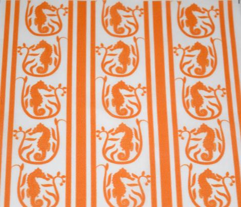 Seahorse Stripe Orange
