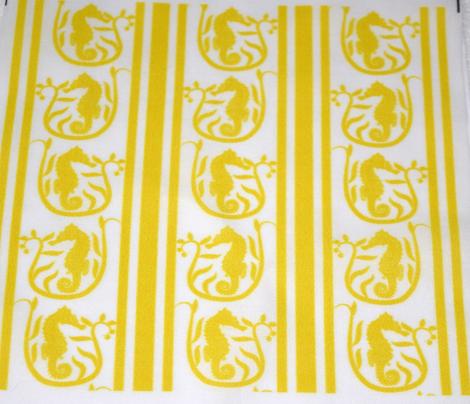 Seahorse Stripe Yellow