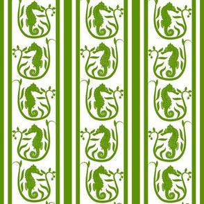 Seahorse Stripe Green