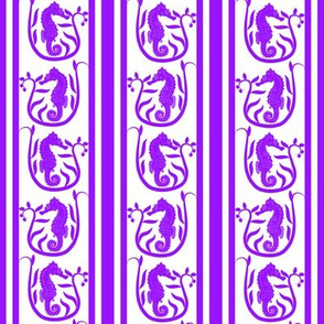 Seahorse Stripe Purple