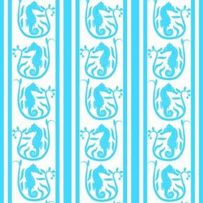 Seahorse Stripe Aqua