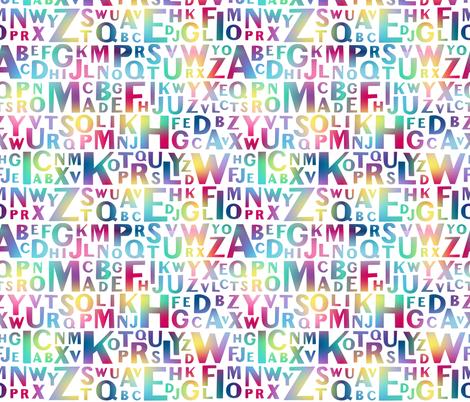 Alphabetical Rainbow fabric by dearchickie on Spoonflower - custom fabric