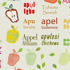Apple-many languages