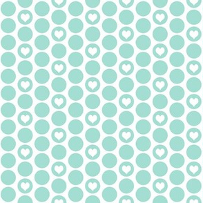 Mint heart polka dots (limited palette) by Su_G