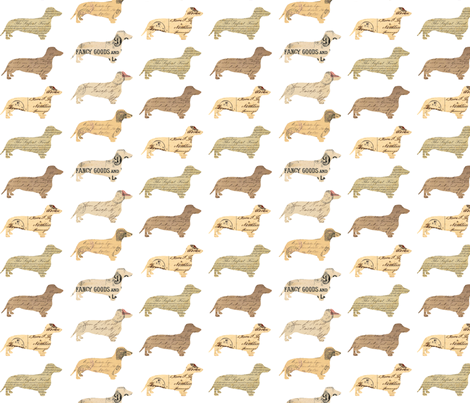Dachshund Paperback Dogs fabric by janinez on Spoonflower - custom fabric