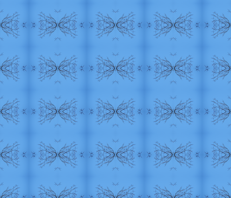 Blue_Sky_Bare_Branches fabric by jane_izzy_designs on Spoonflower - custom fabric