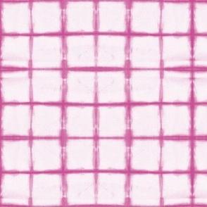 tie dye - pink grid