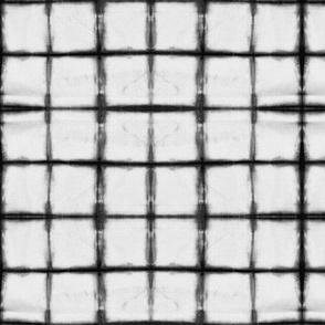 tie dye - grey grid