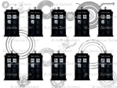 Blue Telephone Box Circles