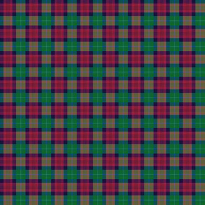 "Akins tartan, 1"" (colors look wrong but will print correctly on cotton)"