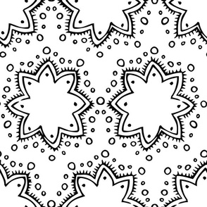 Stars + Dots | Black and White