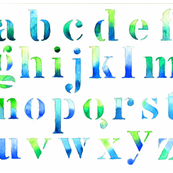 Alphabet watercolor