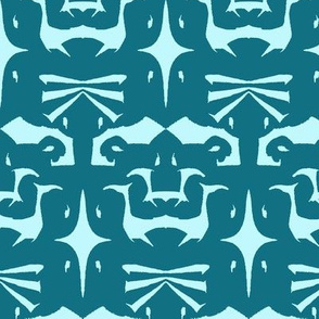 Island Tribal Print 5 Aqua & Teal