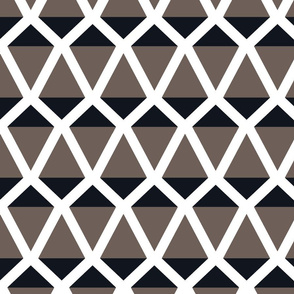 Kites in a geometric pattern in black and gray
