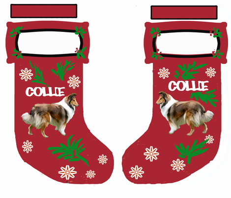 collie_christmas_stocking fabric by dogdaze_ on Spoonflower - custom fabric