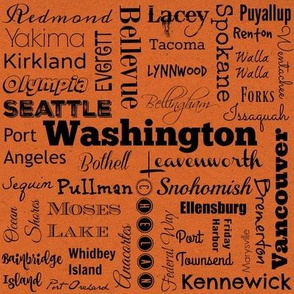 Cities of Washington, orange