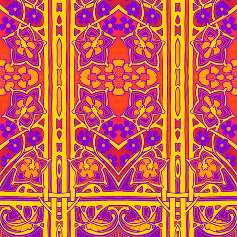 Psychedelic Edwardian Window fabric by edsel2084 on Spoonflower - custom fabric