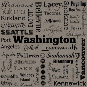 Cities of Washington, gray