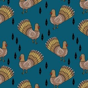 turkey trot // thanksgiving turkeys cute bird birds blue