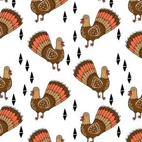 thanksgiving turkey // turkey trot cute bird autumn fall turkeys thanksgiving fabric