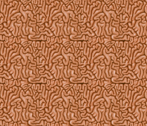Brown Brains fabric by sufficiency on Spoonflower - custom fabric