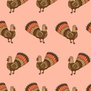 turkey // turkey trot thanksgiving autumn fall peach blush cute bird