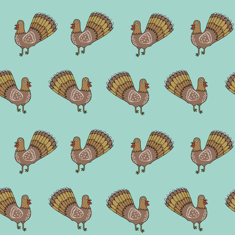 turkey // thanksgiving turkey autumn fall harvest thanksgiving  colors fabric by andrea_lauren on Spoonflower - custom fabric