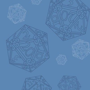 D20 Dice Blue Large