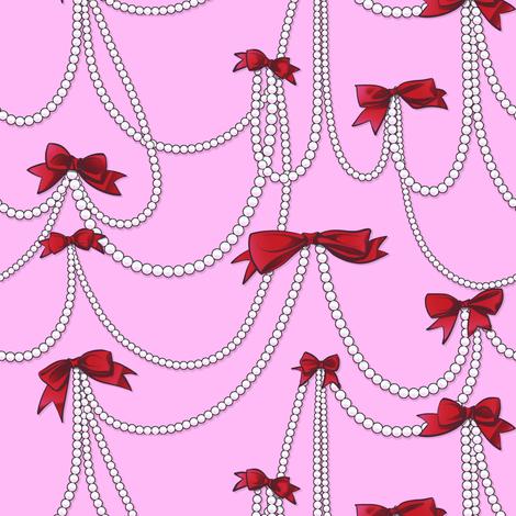 Bows and Pearls fabric by jadegordon on Spoonflower - custom fabric