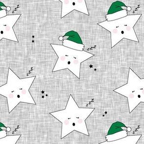 sleepy stars || holiday green hat