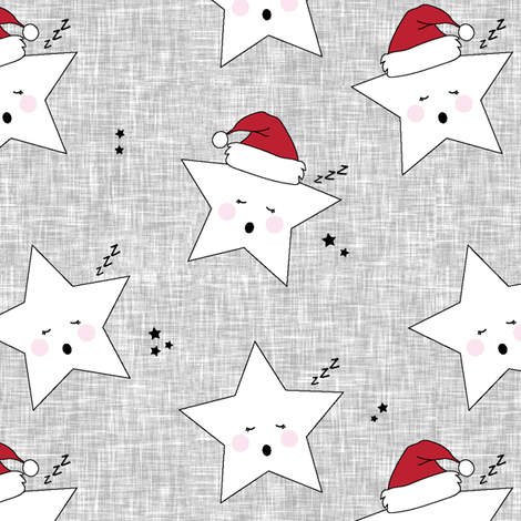 sleepy stars || holiday red fabric by littlearrowdesign on Spoonflower - custom fabric
