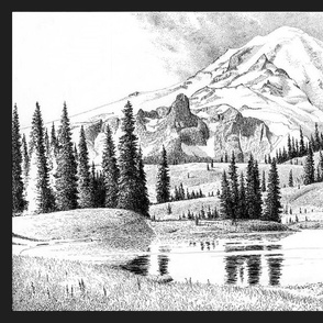 mount rainier - washington - toile