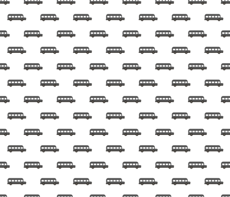 Sweet American school bus design for back to school fabric and fashion for kids car black and white fabric by littlesmilemakers on Spoonflower - custom fabric