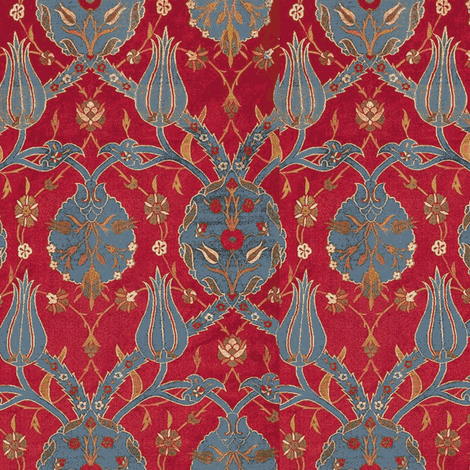 Ottoman Red fabric by amyvail on Spoonflower - custom fabric