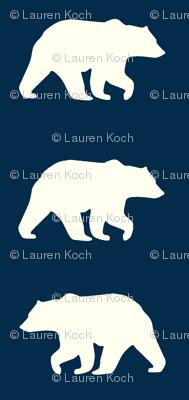 Bear Hike //Navy- Ivory bears