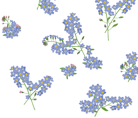 Forget Me Nots fabric by calicocreates on Spoonflower - custom fabric