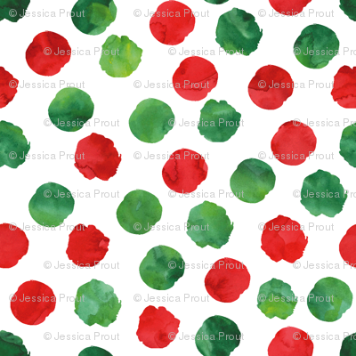 watercolor spots || red and green