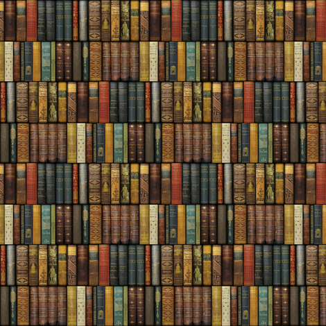 Monsieur Fancypantaloons' Instant Library ~ Doll Scale ~ One Inch fabric by peacoquettedesigns on Spoonflower - custom fabric