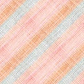 Pink faux linen bias