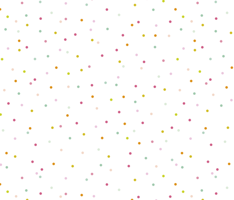 Colorful sprinkle confetti fun little dots and circles spots snow flakes gender neutral fabric by littlesmilemakers on Spoonflower - custom fabric