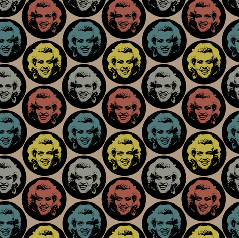 Marilyn#2 fabric by susiprint on Spoonflower - custom fabric
