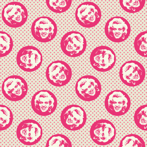 Marilyn#7 fabric by susiprint on Spoonflower - custom fabric