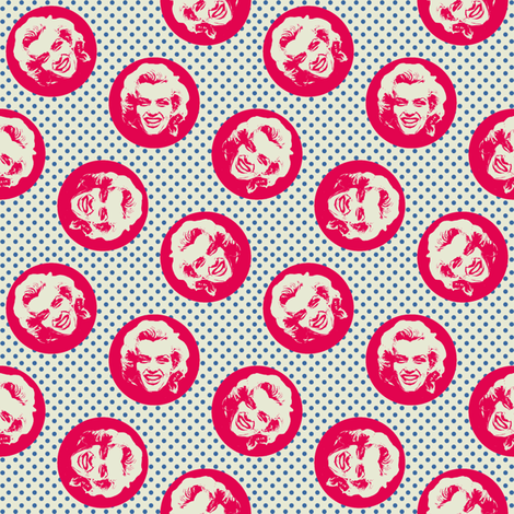 Marilyn#9 fabric by susiprint on Spoonflower - custom fabric