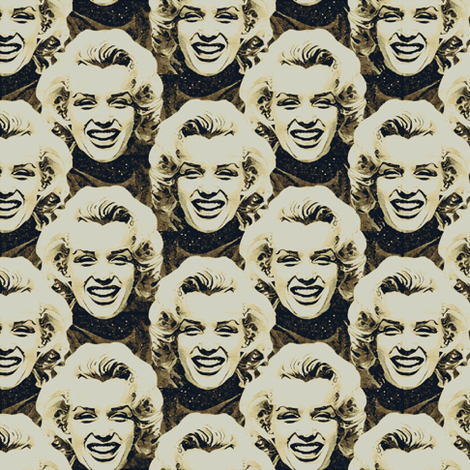 Marilyn#10 fabric by susiprint on Spoonflower - custom fabric