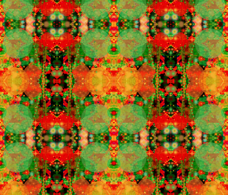 green tara fabric by liberation on Spoonflower - custom fabric