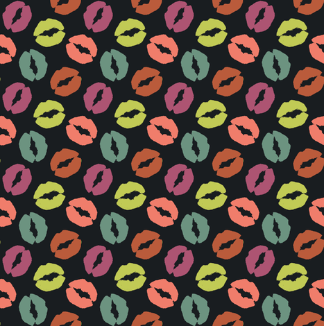 Lips#4 fabric by susiprint on Spoonflower - custom fabric