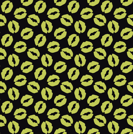 Lips#3 fabric by susiprint on Spoonflower - custom fabric