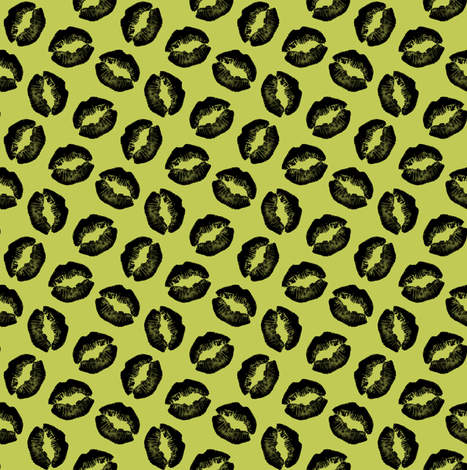 Lips#1 fabric by susiprint on Spoonflower - custom fabric
