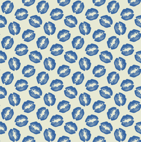 Lips#7 fabric by susiprint on Spoonflower - custom fabric