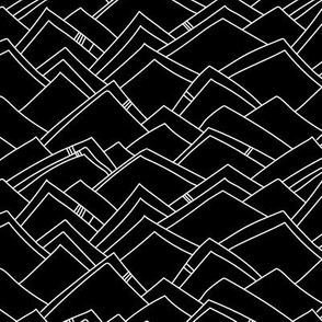 Abstract Mountains - Black & White
